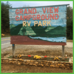 Road Sign at Grand View Campground