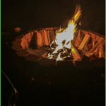 Campfire at Grand View Campground and RV Park